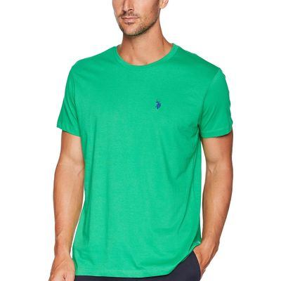 U.S. Polo Assn. - U.S. Polo Assn. Court Green Crew Neck Small Pony T-Shirt