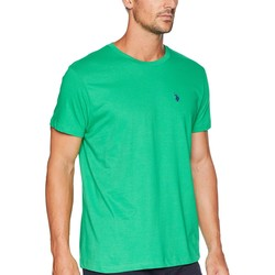 U.S. Polo Assn. Court Green Crew Neck Small Pony T-Shirt - Thumbnail