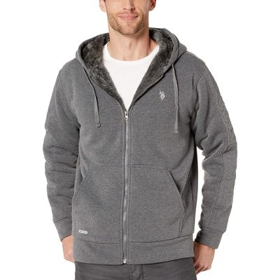 U.S. Polo Assn. - U.S. Polo Assn. Dark Grey Embossed Wordmark Hoodie