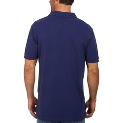 U.S. Polo Assn. Dodger Blue Solid Cotton Pique Polo With Small Pony - Thumbnail