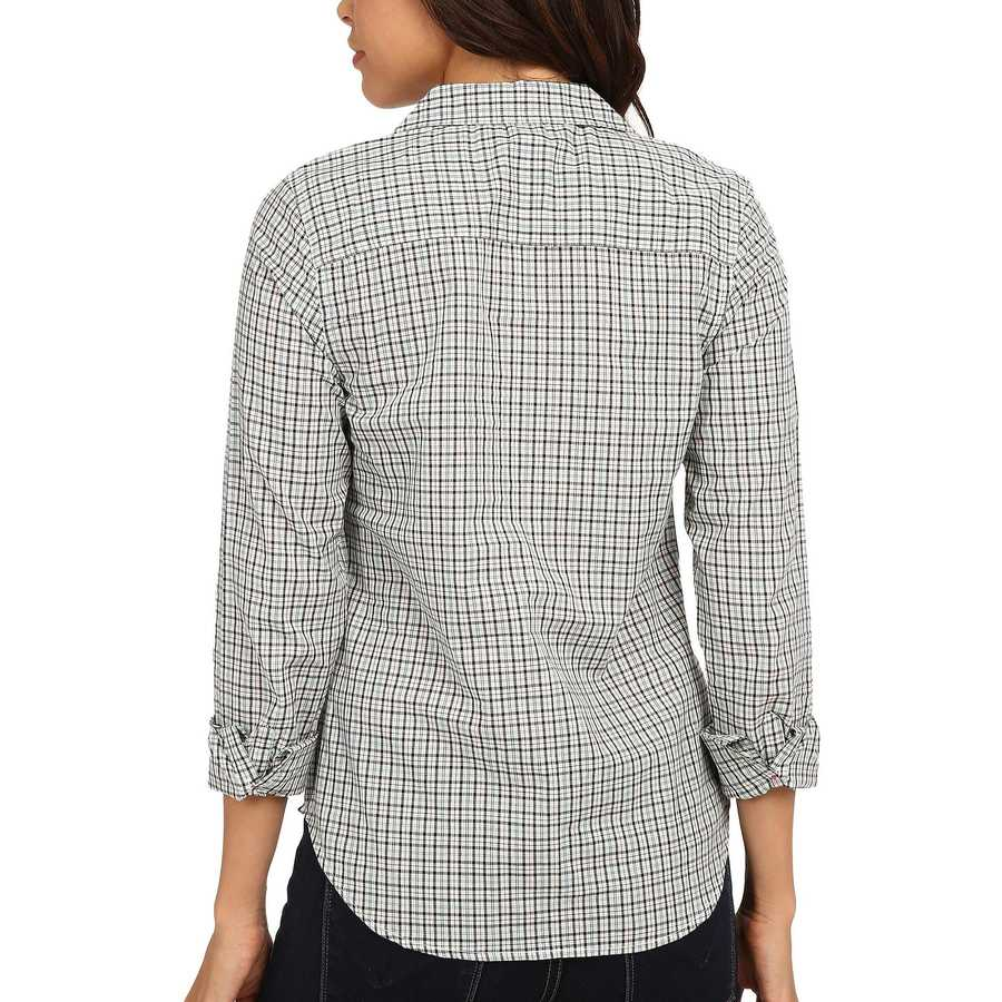 U.S. Polo Assn. Fair Aqua Plaid Poplin Shirt