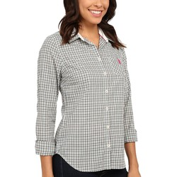 U.S. Polo Assn. Fair Aqua Plaid Poplin Shirt - Thumbnail