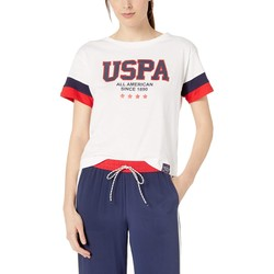 U.S. Polo Assn. Fresh White Graphic Crop Tee - Thumbnail