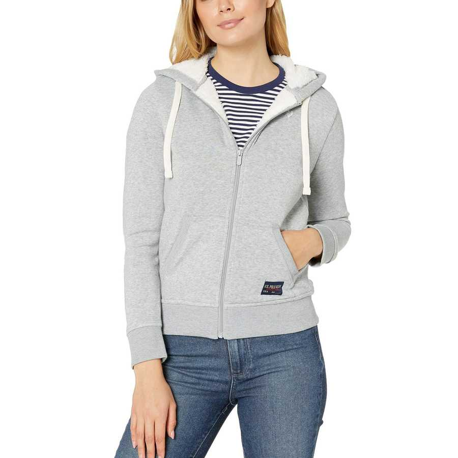 U.S. Polo Assn. Heather Grey Fleece Hoodie