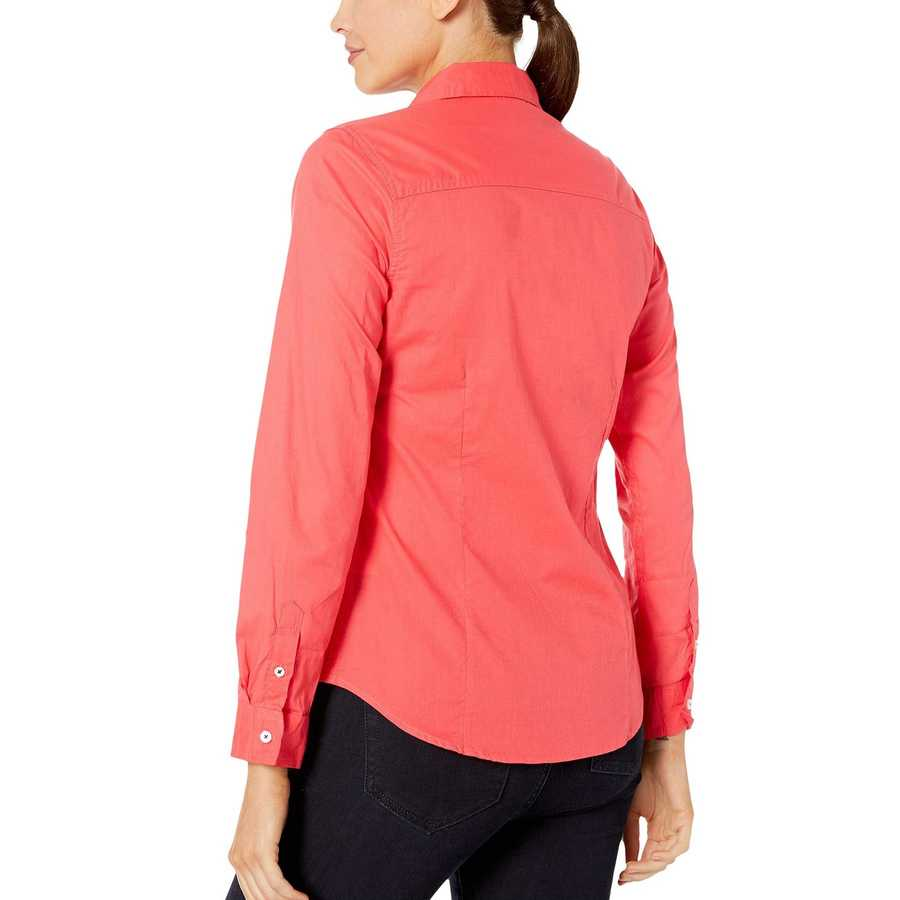 U.S. Polo Assn. Hibiscus Solid Woven Top