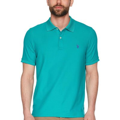 U.S. Polo Assn. - U.S. Polo Assn. Island Jade Ultimate Pique Polo Shirt