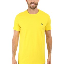 U.S. Polo Assn. Laser Yellow Crew Neck Small Pony T-Shirt - Thumbnail