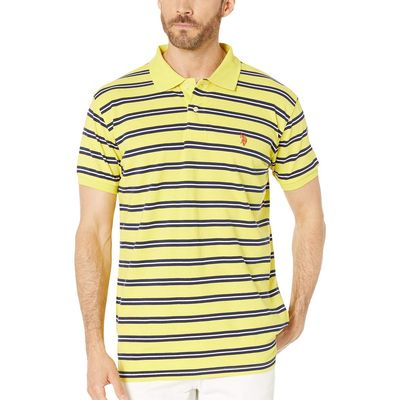 U.S. Polo Assn. - U.S. Polo Assn. Laser Yellow Double Stripe Polo