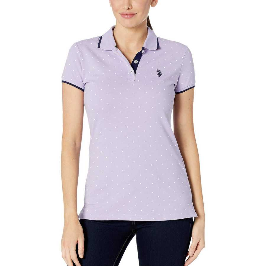 U.S. Polo Assn. Lavender Sail Dot Print Polo Shirt