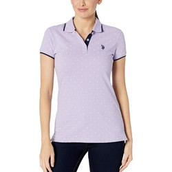 U.S. Polo Assn. Lavender Sail Dot Print Polo Shirt - Thumbnail