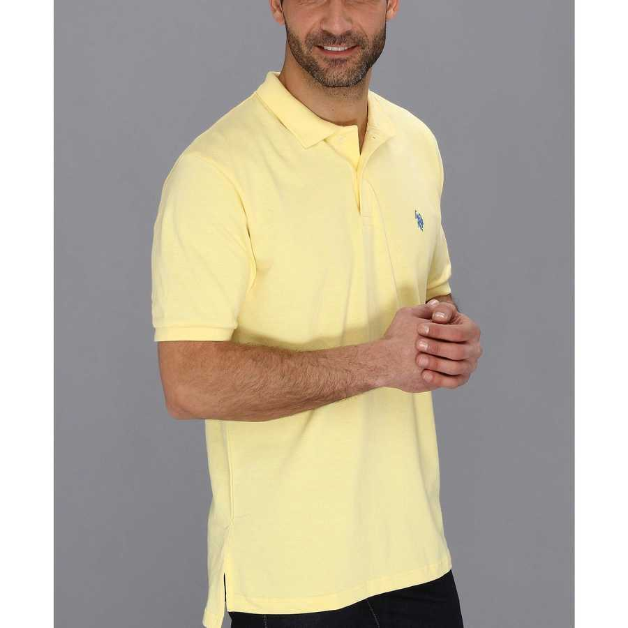 U.S. Polo Assn. Lemon Frost Solid Cotton Pique Polo With Small Pony