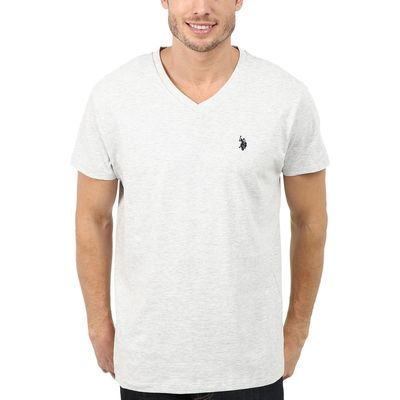 U.S. Polo Assn. - U.S. Polo Assn. Light Heather Gray V-Neck Short Sleeve T-Shirt