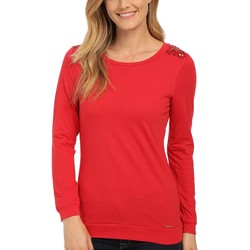 U.S. Polo Assn. Lipstick Red Sequin Yoke T-Shirt - Thumbnail