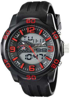 U.S. Polo Assn. - U.S. Polo Assn. Men's Analog-Digital Display Analog Quartz Black Sport Watch US9473 US9473
