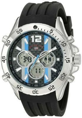 U.S. Polo Assn. - U.S. Polo Assn. Men's Analog-Digital Display Analog Quartz Black Sport Watch US9529 US9529
