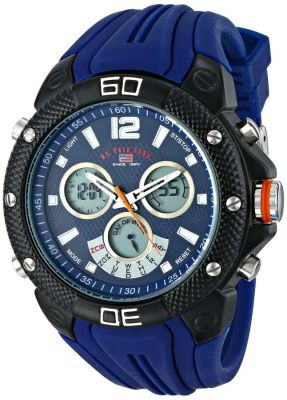 U.S. Polo Assn. - U.S. Polo Assn. Men's Analog-Digital Display Analog Quartz Blue Sport Watch US9496 US9496