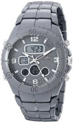 U.S. Polo Assn. - U.S. Polo Assn. Men's Analog-Digital Display Analog Quartz Grey Sport Watch US8579 US8579