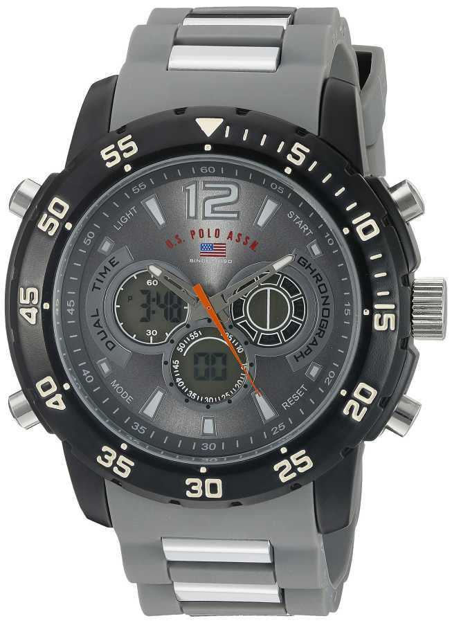 U.S. Polo Assn. Men's Analog-Digital Display Analog Quartz Grey Sport Watch US9545 US9545