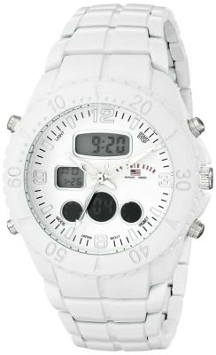 U.S. Polo Assn. - U.S. Polo Assn. Men's Analog-Digital Display Analog Quartz White Sport Watch US8578 US8578