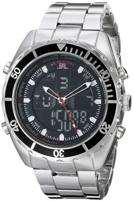 U.S. Polo Assn. - U.S. Polo Assn. Men's Analog/Digital Display Sterling Silver Case Casual Watch US8211 US8211
