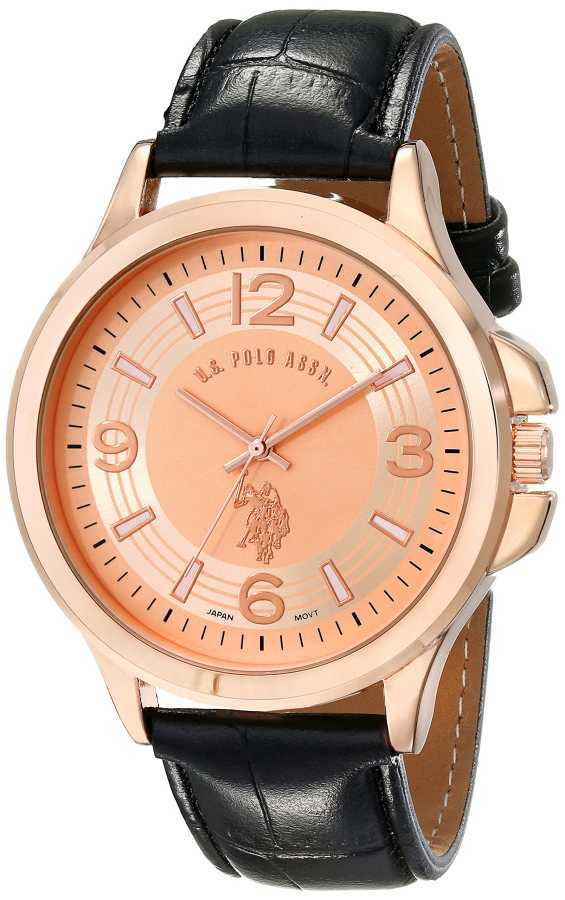 U.S. Polo Assn. Men's Analog Display Analog Quartz Brown Classic Watch USC50218 USC50218