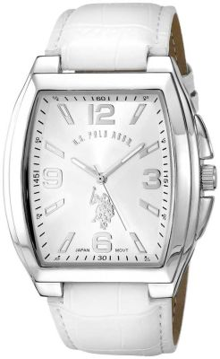 U.S. Polo Assn. - U.S. Polo Assn. Men's Analog Display Analog Quartz White Classic Watch USC50182 USC50182