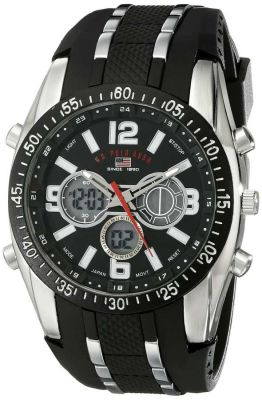U.S. Polo Assn. - U.S. Polo Assn. Men's Black and Silver Sport Watch US9281 US9281