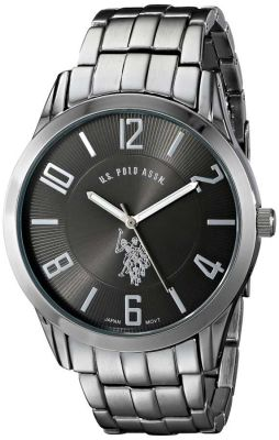 U.S. Polo Assn. - U.S. Polo Assn. Men's Black Dial Gunmetal Toned Classic Watch USC80038 USC80038