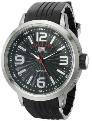U.S. Polo Assn. - U.S. Polo Assn. Men's Black Rubber Band Sport Watch US9054 US9054