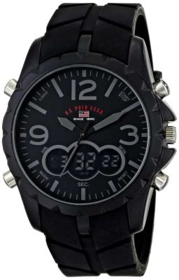 U.S. Polo Assn. - U.S. Polo Assn. Men's Black Rubber Band Sport Watch US9287 US9287