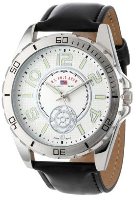U.S. Polo Assn. - U.S. Polo Assn. Men's Black Synthetic Leather Strap Black Classic Watch US5159 US5159