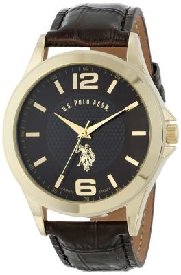 U.S. Polo Assn. - U.S. Polo Assn. Men's Blue Leather Band Sport Watch US5219 US5219