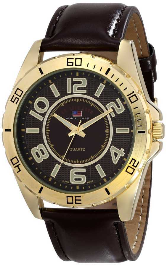 U.S. Polo Assn. Men's Brown Dial Extra Long Brown Strap Brown Classic Watch US5160EXL US5160EXL