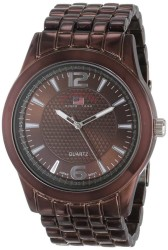 U.S. Polo Assn. Men's Brown Dial Spray Brown Plated Bracelet Classic Watch US8442 US8442 - Thumbnail