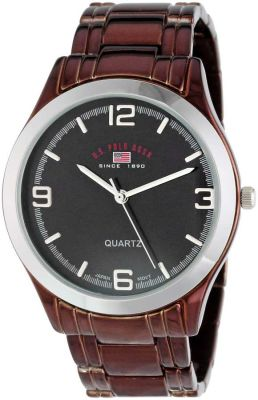 U.S. Polo Assn. - U.S. Polo Assn. Men's Brown Dial Spray Brown Plated Bracelet Classic Watch US8451 US8451