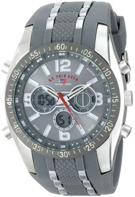 U.S. Polo Assn. - U.S. Polo Assn. Men's Grey Analog/Digital Chronograph Grey Sport Watch US9283 US9283