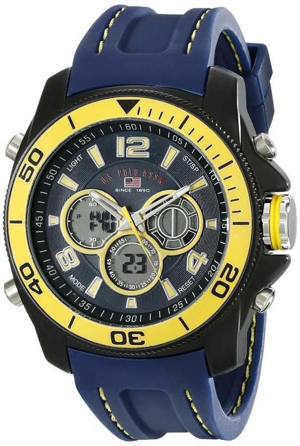 U.S. Polo Assn. Men's Navy Silicone Band Sport Watch US9322 US9322