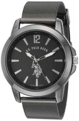 U.S. Polo Assn. - U.S. Polo Assn. Men's Quartz and Alloy Black Classic Watch USC80384 USC80384