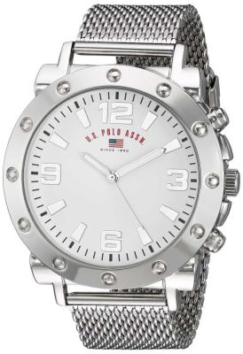 U.S. Polo Assn. - U.S. Polo Assn. Men's Quartz and Alloy Casual Silver Casual Watch US8815 US8815