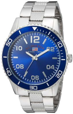U.S. Polo Assn. - U.S. Polo Assn. Men's Quartz and Alloy Casual Silver Toned Casual Watch US8609 US8609
