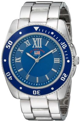 U.S. Polo Assn. - U.S. Polo Assn. Men's Quartz and Alloy Casual Silver Toned Casual Watch US8611 US8611