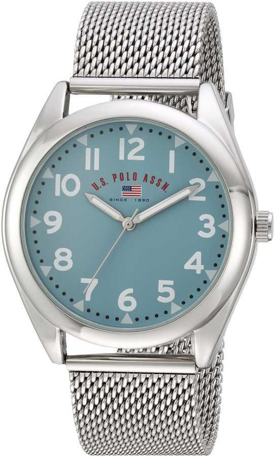 U.S. Polo Assn. Men's Quartz and Alloy Casual Silver Toned Casual Watch US8802 US8802