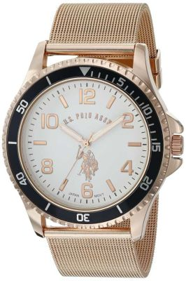 U.S. Polo Assn. - U.S. Polo Assn. Men's Quartz and Alloy Gold-Toned Rose Gold Toned Classic Watch USC80378 USC80378