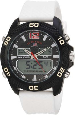 U.S. Polo Assn. - U.S. Polo Assn. Men's Quartz and Rubber White Casual Watch US9651 US9651