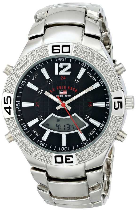 U.S. Polo Assn. Men's Silver-Tone Silver Toned Sport Watch US8230 US8230