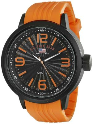U.S. Polo Assn. - U.S. Polo Assn. Men's Stainless Steel Orange Band Sport Watch US9053 US9053