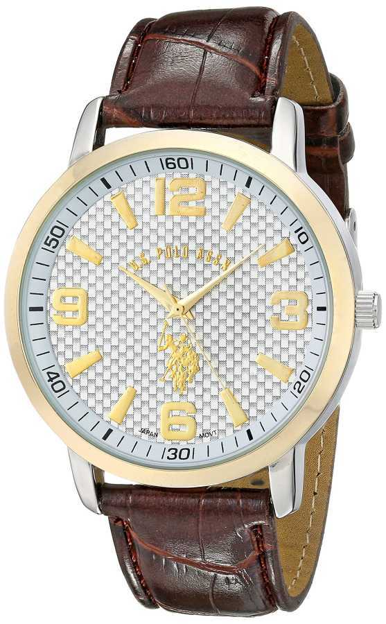 U.S. Polo Assn. Men's Two Toned Classic Watch with Textured Band USC50079 USC50079