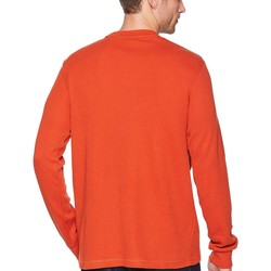 U.S. Polo Assn. Mineral Orange Long Sleeve Crew Neck Solid Thermal Shirt - Thumbnail