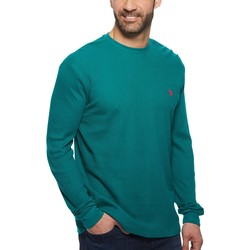 U.S. Polo Assn. Nocturne Teal Long Sleeve Crew Neck Solid Thermal Shirt - Thumbnail
