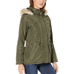 U.S. Polo Assn. Olive Anorak With Fur Hood - Thumbnail